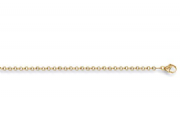 "24"" 61cm 2.6mm 9ct gold round link Belcher chain 9.8g"